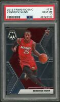 Kendrick Nunn Miami Heat 2019 Panini Mosaic Basketball Rookie Card RC 234 PSA 10