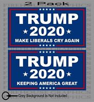 2 Pack TRUMP 2020 MAGA Republican President Keeping America Great sticker decal