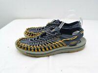 KEEN Mens Size 11 Uneek Sport Sandals Adjustable Bungee Cord Gray Blue EU 44.5