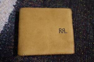 RRL Men's Roughout Suede Billfold Wallet Brown