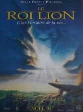 LE ROI LION Affiche Cinéma Originale ROULEE 53x40 Movie Poster DISNEY