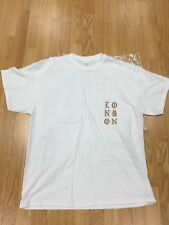 KANYE WEST POP UP LONDON AUTHENTIC ULTRALIGHT BEAM WHITE T SHIRT SOLDOUT