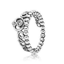 Authentic Pandora Sterling Silver Ring 190880CZ My Princess Clear Size (5) 50