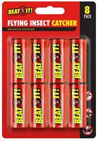 8 x Flying Insect Sticky Bug Wasp Fly Poison Free Paper Fly Traps Catchers