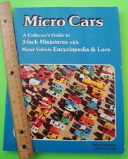1982 MICRO CARS GUIDE TO 3-INCH MINIATURES by Viemeister ENCYCLOPEDIA All Makes