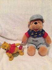 Winnie the Pooh Soft Plush Toy w/ Winnie & Piglet Ceramic Figurine