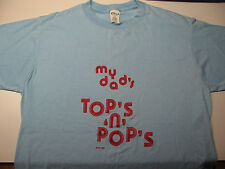 VINTAGE My Dad's TOPS N POPS T-SHIRT Soft Thin Blue 1978 CHED Large 1970's USA