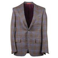 Isaia Slim-Fit 'Sanita' Windowpane Wool-Cashmere-Silk Sport Coat 40R (Eu 50)