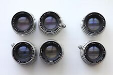 6x Jupiter-8 2/50mm Silver (Sonnar copy) Zorki, Leica, M39