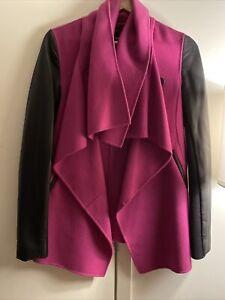 Mackage Shea Wool/Leather Coat Size XS