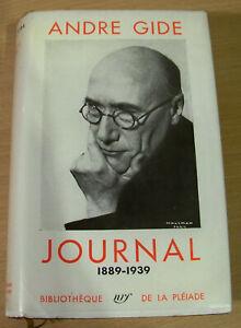Livre La Pléiade André Gide Journal 1889-1939