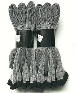 3 / 6  Pair Men's Gray Merino Wool Cushioned Bottom Work / Boot Sock Size13-15.