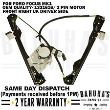 2/3 DOORS-  FOR FORD FOCUS MK1 FRONT RIGHT SIDE WINDOW REGULATOR & 2 PIN MOTOR