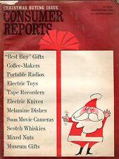 Consumer Reports Magazine November 1964 Best Buy Gifts VG No ML 090916jhe