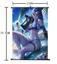 "Hot Anime Blizzard Game Overwatch Widowmaker Home Decor Wall Scroll 8""×12"" 03"