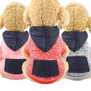 Winter Sweatshirt Dog Hoodie Coat Dog Soft Fleece Warm Puppy Clothes Dog Clothes