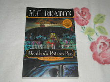 DEATH OF A POISON PEN by M.C. BEATON   -ARC-  -FM-