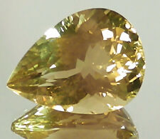 OREGON SUNSTONE SUPERB PRECISION CUT  STRONG YELLOW 24.50 CT SEE VIDEO