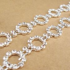 1pair women circular crystal rhinestone wedding shoulder bra straps party white