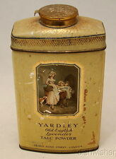 Yardley OLD ENGLISH LAVENDER Talc Talcum Powder Tin Vintage full ht: 6 1/8 225 g