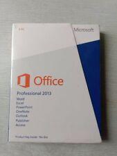 Microsoft Office Professional 2013 Pro32/64bit DVD+key card English free postage