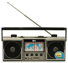 QFX AM/FM/SW 1-9 RADIO WORLD RECEIVER USB/SD CARD SLOT PORT for MP3 PLAYBACK NEW