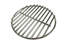 More details for stainless steel round bbq charcoal cooking grill grate big green egg & kamado