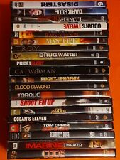 Dvd Lot Of 20 Action Dvds Various Conditions Untested