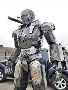 Iron Man War Machine Life Size Figure Model Metal Art Productions Sculpture