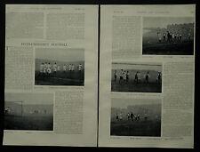 Oxford v Cambridge University Football Match 1897 3 Page Photo Article