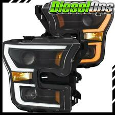 Anzo USA Projector Headlights Plank Style Switchback BK/AMB for Ford F-150 15-17