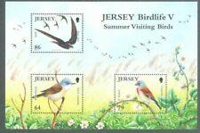 Jersey Birds-Summer Visiting birds Souvenir sheet 2011-mnh