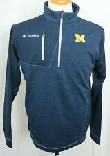 New Michigan University Wolverines Columbia Omni-Heat Embroidered Pullover Men L