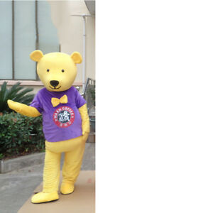 Halloween Bear Mascot Costume Suit Cosplay Party Game Fancy Dress Outfits Adults