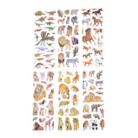 6 Sheets Wildlife Animals Scrapbooking Bubble Puffy Stickers Reward Kids Toys XS