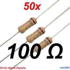 50x Resistencia 100 Ohmnios - CARBON FILM RESISTOR