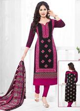 Elegant Crepe Designer Printed Unstitched Dress Material Suit D.No VAR1663