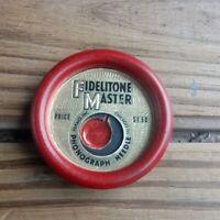 Vintage Fidelitone Master Phonograph Needle Round Case - No Needle is Missing