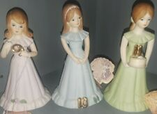 Enesco Growing Up Birthday Girls 9, 10, 11 Designer Ellen Williams - Light Brown