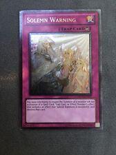 Solemn Warning - Ultimate Rare - DREV-EN077 - M/NM - YuGiOh
