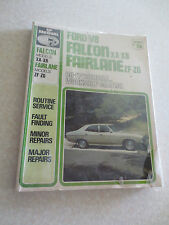 V8 Falcon XA XB & Fairlane ZF ZG workshop manual
