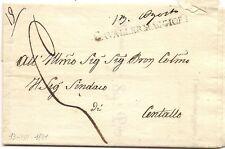 P7511   Prefilatelica, Cuneo, Cavallermaggiore, lineare maiuscolo 1831
