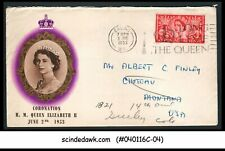 Great Britain - 1953 Qeii Coronation Special Cover With Cancelleation Date 3rd J