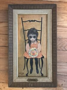 Margaret Walter Keane Big Eyes Framed Print Waiting For Grandmother