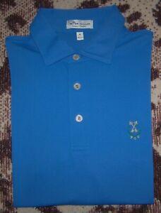 PETER MILLAR SUMMER COMFORT Polo Shirt PEACHTREE GOLF CLUB Blue Size M TOP 100