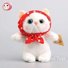 New Choo Choo Cat with Hood Soft Plush Stuffed Animals Doll Toy 8'' Cute Gift