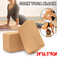 100% Yoga Block Natural Cork Fitness Sport Eco Stretch Aid Gym Exercise