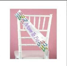 Mom-to-Be Sash to wear at Baby Shower -Baby Footprints Theme-Gift for Mom  #1051