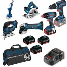 Bosch 18v 6 Piece Cordless Tool Kit with 3 x 5.0Ah in Bag -  0615990G8K5