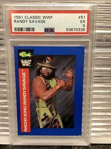 1991 Macho Man Randy Savage Classic WCW WWE Wrestling Rookie Card AEW WWF PSA